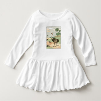Ostrich Children's Illustrated Dress