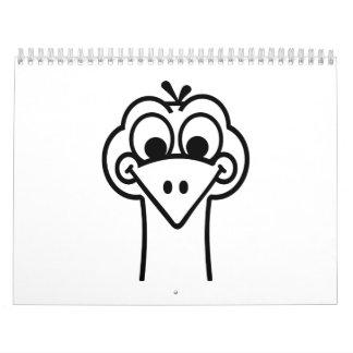 Ostrich face calendar