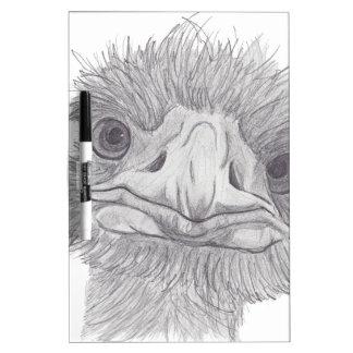 Ostrich Face Dry-Erase Board