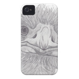 Ostrich Face iPhone 4 Cover
