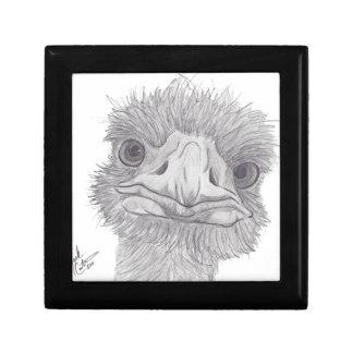 Ostrich Face Keepsake Box