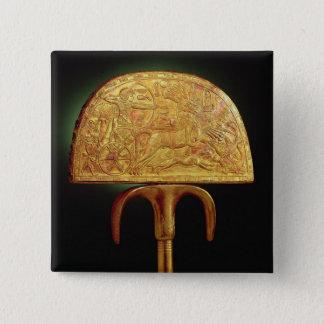 Ostrich-feather fan, from Tomb of Tutankhamun Pinback Button