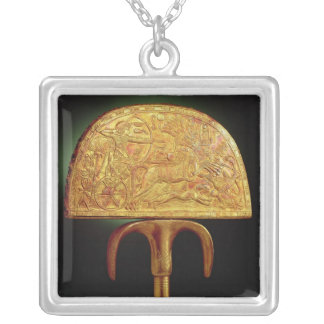 Ostrich-feather fan, from Tomb of Tutankhamun Silver Plated Necklace