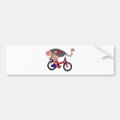 Ostrich Flight Bumper Sticker