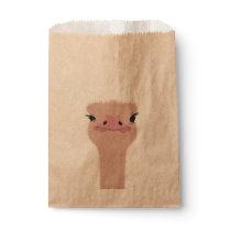 Ostrich funny face favor bag