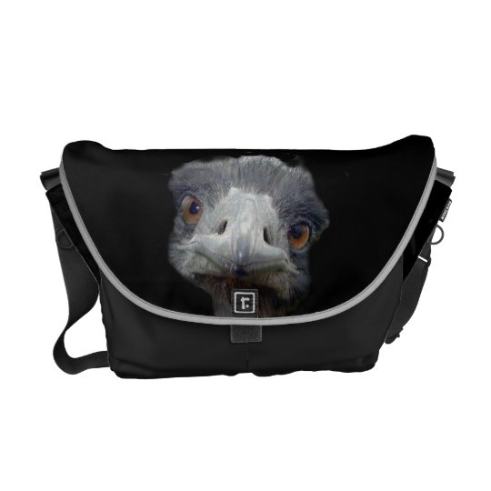 Ostrich head messenger bag