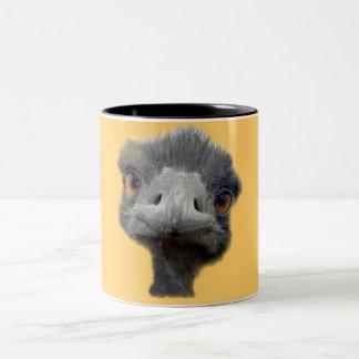 Ostrich head Two-Tone coffee mug