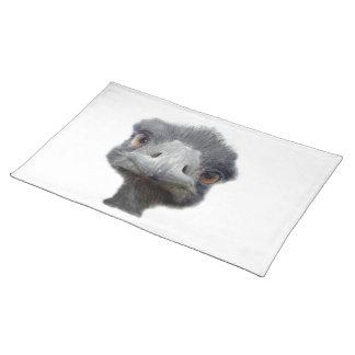 Ostrich head cloth place mat