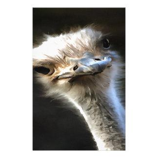 Ostrich Head Stationery
