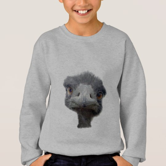 Ostrich head sweatshirt