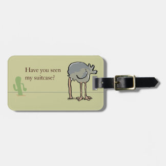 ostrich hiding tags for bags