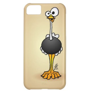 Ostrich on an iPhone case