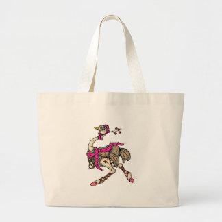 ostrich jumbo tote bag