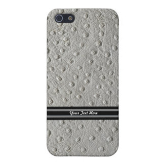 Ostrich Leather Case For iPhone SE/5/5s
