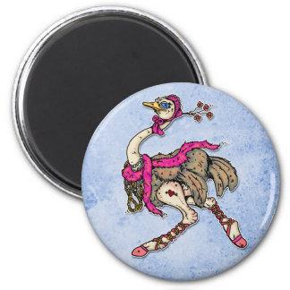 ostrich fridge magnets