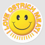 Ostrich Meat Smile Stickers