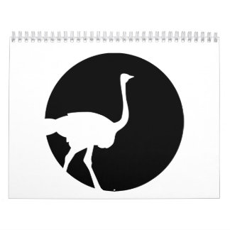 Ostrich moon calendar