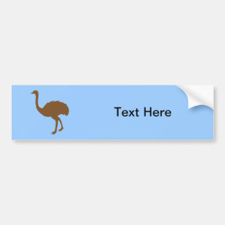 Ostrich Ostriches Struthio Bird Birds Africa Art Bumper Sticker