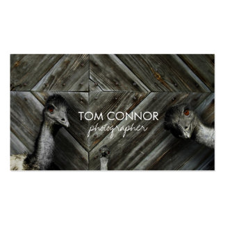 Ostrich Photoshoot Photographer Business Card