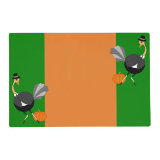 Ostrich Pilgrim for Autumn Feasts Placemat