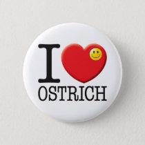 Ostrich Pinback Button