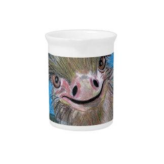 ostrich pitcher