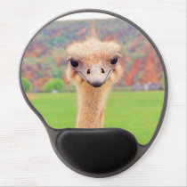 Ostrich portrait gel mouse pad