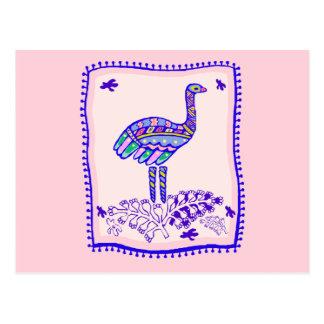Ostrich Quilt Postcard