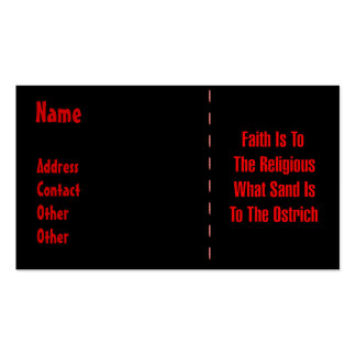 Ostrich Religion Business Card