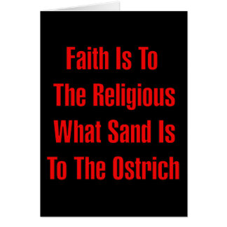 Ostrich Religion Card