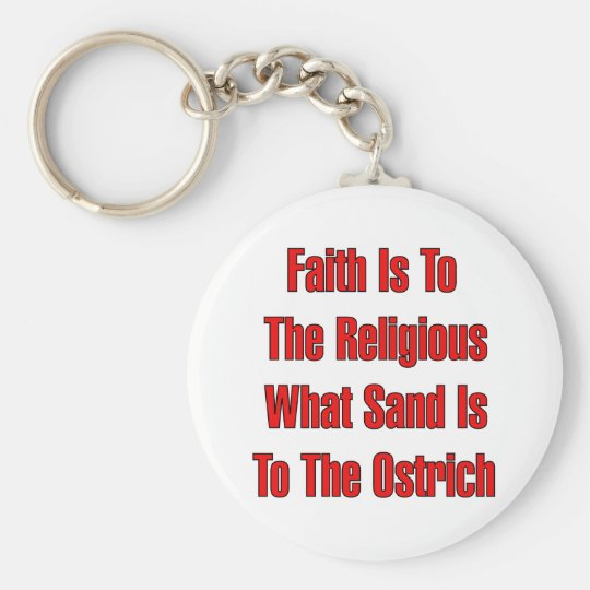 Ostrich Religion Keychain