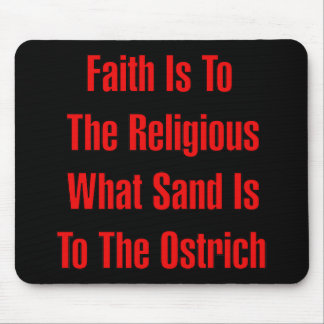 Ostrich Religion Mouse Pad