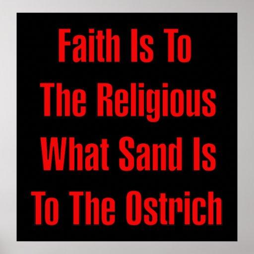 Ostrich Religion Poster