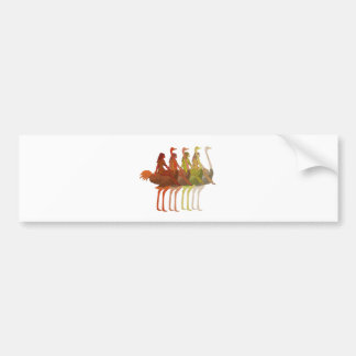 Ostrich Riding Bumper Sticker