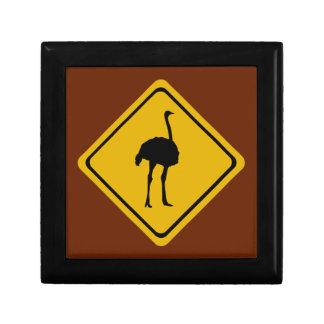 ostrich road sign jewelry box