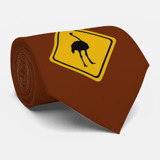 ostrich road sign tie
