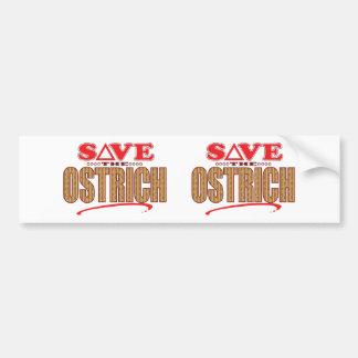 Ostrich Save Bumper Sticker