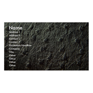 Ostrich Skin Leather Double-Sided Standard Business Cards (Pack Of 100)