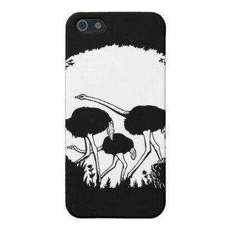 Ostrich Skull Illusion Cover For iPhone SE/5/5s