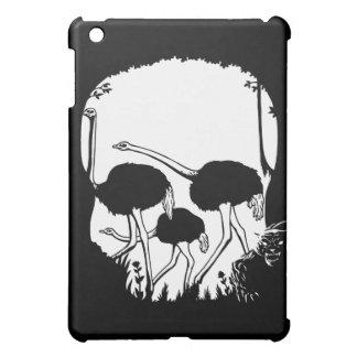 Ostrich Skull Illusion iPad Mini Cover