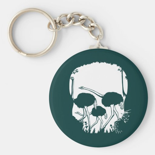 Ostrich Skull Illusion Key Chain