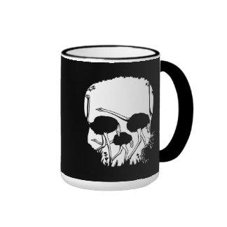 Ostrich Skull Illusion Ringer Mug