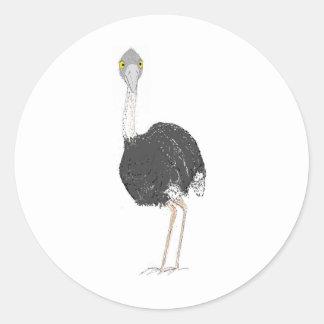 Ostrich Round Sticker