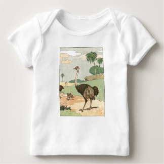 Ostrich Story Book Drawing T Shirt