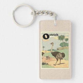 Ostrich Story Book Illustrated Keychain