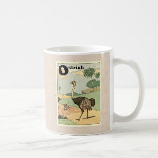 Ostrich Storybook Drawing Classic White Coffee Mug