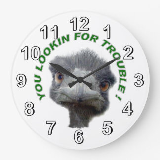 Ostrich trouble large clock