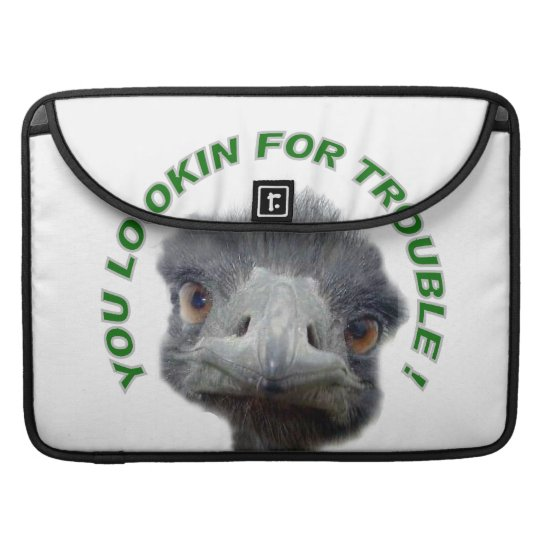 Ostrich trouble MacBook pro sleeve