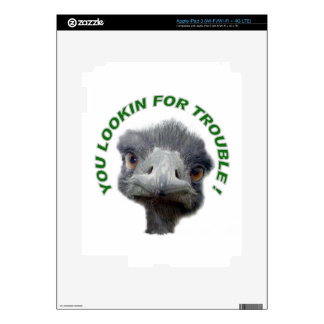 Ostrich trouble skins for iPad 3