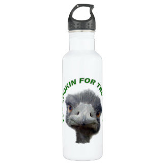 Ostrich trouble stainless steel water bottle